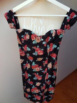 Süßes Sommerkleid mit Blumenmuster; Gr. 32