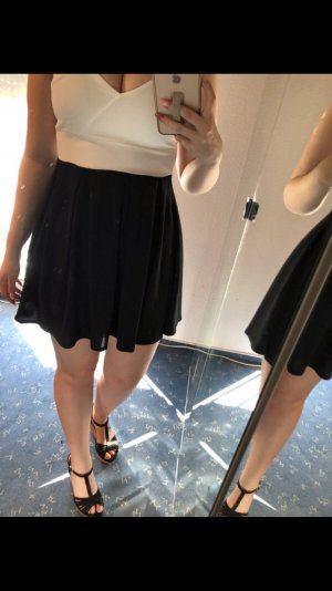 Vestido cut out blanco-negro
