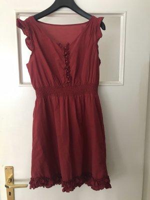 Brooklyn Industries Mini Dress brick red-dark red