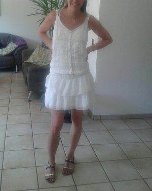 süßes Sommerkleid weiß gr 36