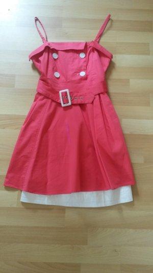 Süßes Sommerkleidchen von Orsay in pink/weiß, Größe 38