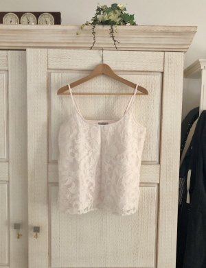 Zara Top di merletto bianco sporco