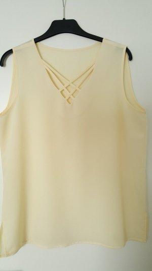 Top basic giallo chiaro