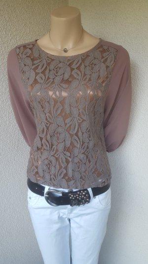 Lace Blouse bronze-colored