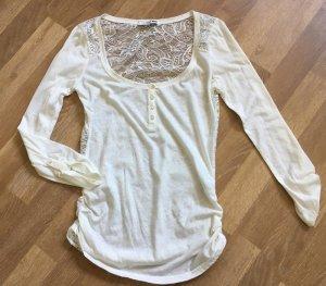 Süsses spitzenshirt von tally weijl blogger weiss creme rückenfrei shirt bluse