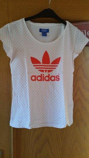 Adidas Camisa deportiva blanco-naranja Algodón
