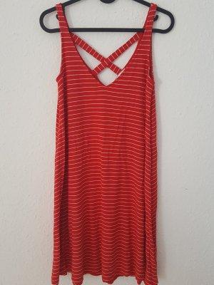 Amisu Vestito da spiaggia rosso-bianco sporco