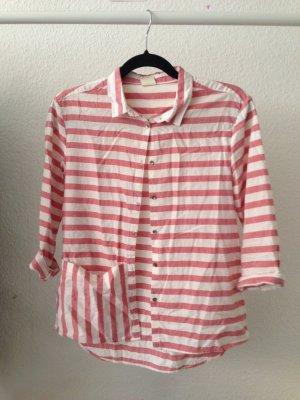 süßes streifenhemd mit tasche