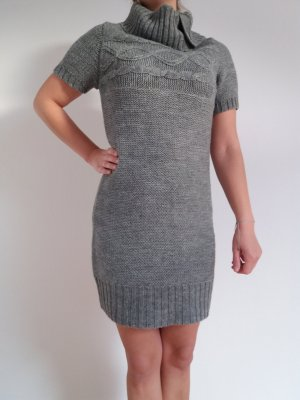 Blue Motion Knitted Dress grey polyacrylic