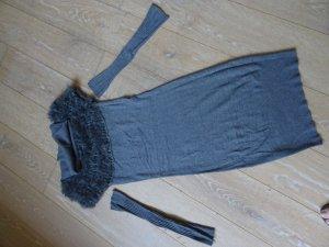 Abito di maglia grigio scuro Tessuto misto