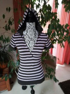 More & More Camicia con cappuccio talpa-malva