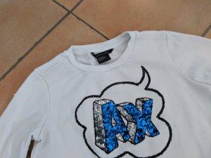Armani Exchange Felpa bianco-blu