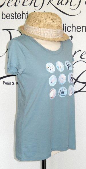 "Süßes T-Shirt mit Print (""Let the sea set you free"") - Nur einmal getragen!"