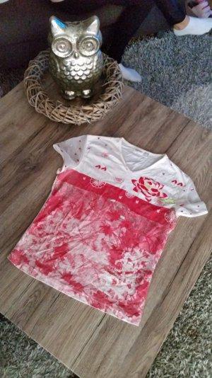 Süsses T-Shirt v. ESPRIT mit Tüllärmel Gr. 38