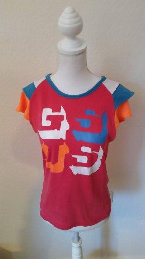 Süßes T-shirt von Gsus in pink mit Print und dreilagigen Ärmeln