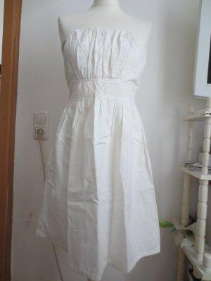 Süßes tailliertes Sommer Bandeau Kleid mit Raffung 36 38