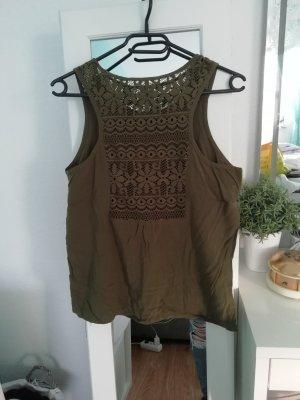 süßes top | khaki | spitze | Sommer shirt