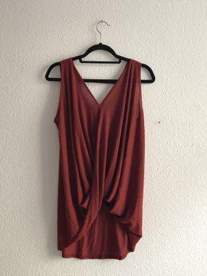 Süßes Top/Kleid in dunkelrot