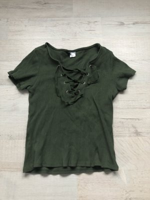 H&M Divided Cut Out Top multicolored