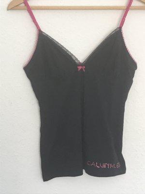 Calvin Klein Top con bretelline nero