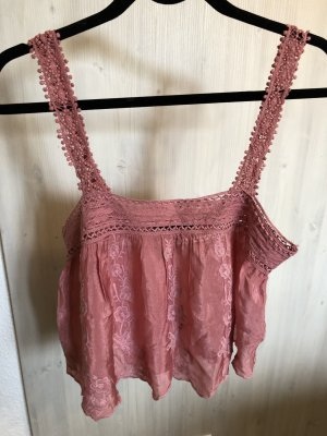 Zara Crochet Top pink