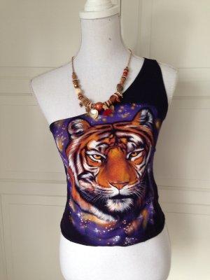 Süßes Topshop One-Shoulder Tiger Top