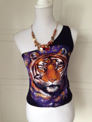 Süßes Topshop One-Shoulder Tiger Top