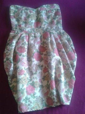 süßes trägerloses Kleid, floral-design von smashed-lemon, Gr. L