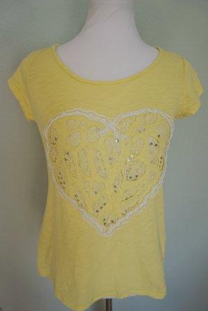 Made in Italy Camiseta amarillo Algodón