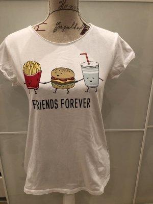 FB Sister Shirt met print wit