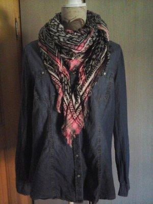 Opus Sjaal met franjes veelkleurig