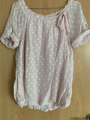 Shirt Tunic white-light pink