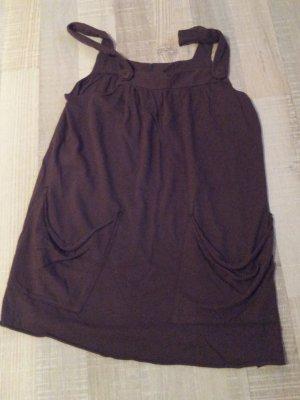 Süßes Velvet Trägerkleid in Braun