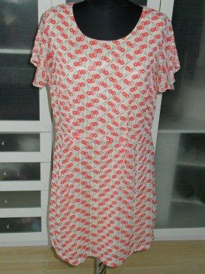 süßes VERO MODA Sommerkleid mit Kirschen Gr. 42