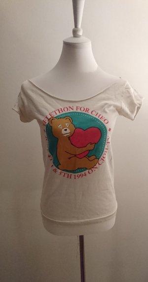 Süsses Vintage Bären Shirt Gr.S Uboot Schnitt Cut out