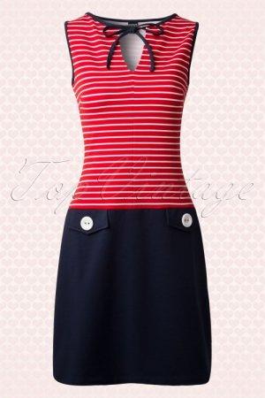 Süßes vintage Sailor-Kleid von Mademoiselle YéYé, Marine look, sixties, 60er, vegan+fair Gr. S - M