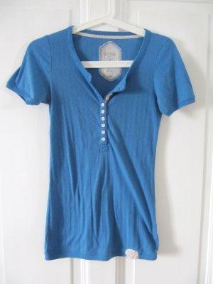 Süßes Wäscheteil von SUPERDRY Shirt Rippshirt Blau Größe S bis M