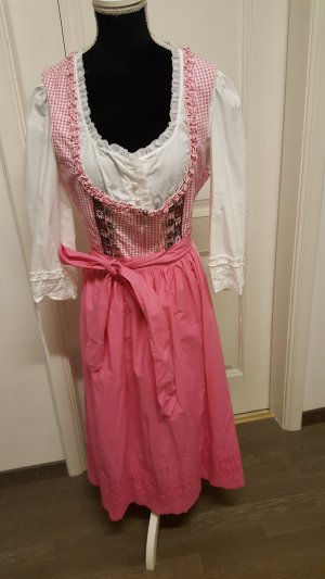 Dirndl pink-white cotton