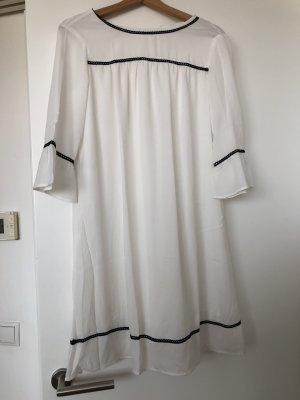 Robe tunique noir-blanc polyester