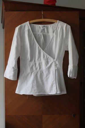 süßes weißes leichtes Wickelblüschen mit dreiviertel Arm