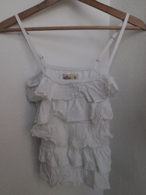 Hollister Frill Top white