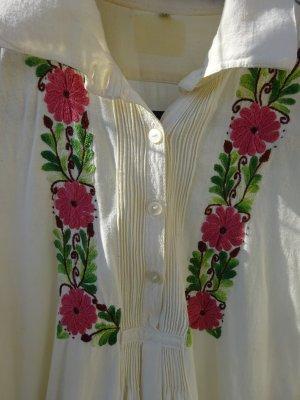 Robe chemise multicolore coton