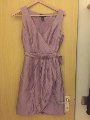 H&M Vestido cruzado malva