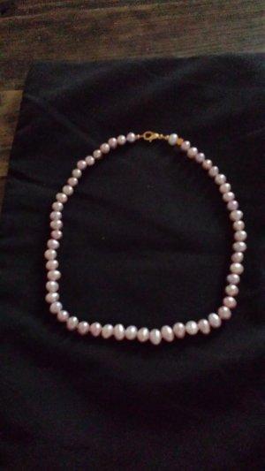Süßwasser Perlenkette rose