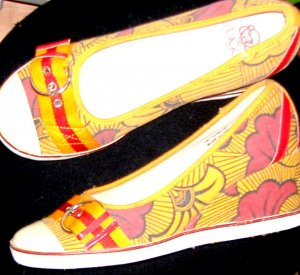 Sugar Canvas Wedges Retro Flower-Power