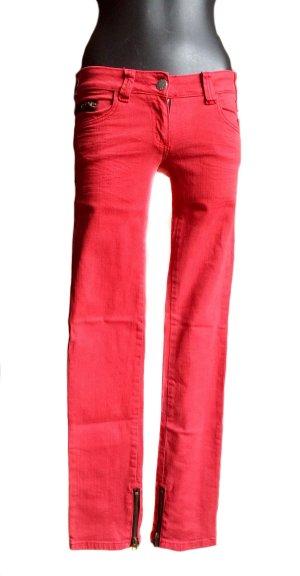 Sugar&Spice Jeans in rot mit Ziernieten