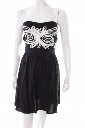 Sugarhill boutique Bandeaukleid schwarz-creme schlichter Stil