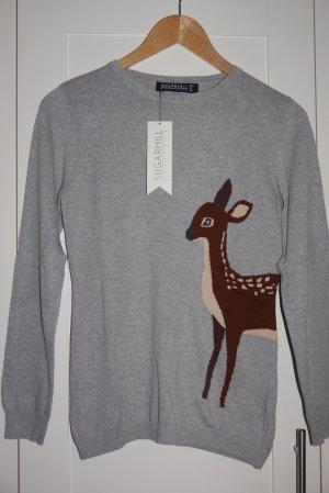 Sugarhill Boutique Pullover Bambi Tiermotiv Neu mit Etikett!