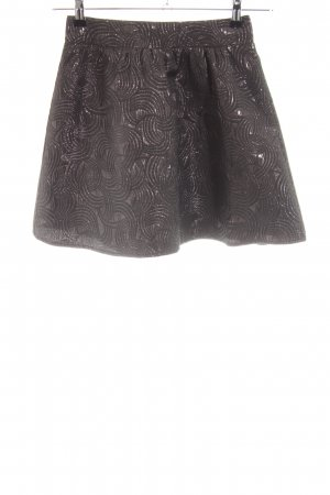 Sugarhill boutique Skater Skirt bronze-colored abstract pattern casual look