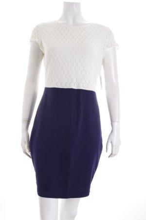Sugarhill boutique Spitzenkleid blau-weiß Romantik-Look